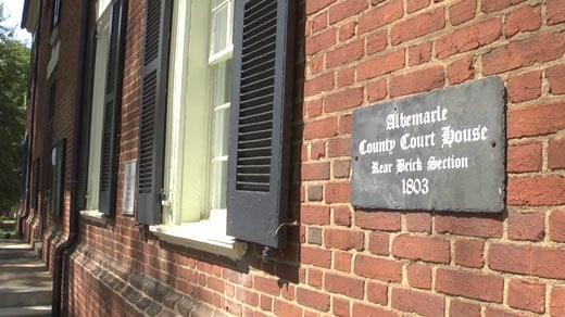 Front sign of Albemarle Circuit Court in downtown Charlottesville (FILE IMAGE)