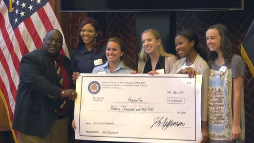 Students at UVA's Batten School gave grants to four nonprofits including The Haven