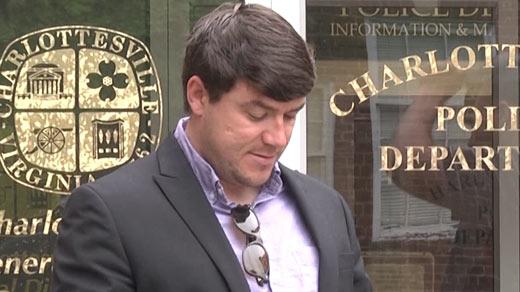 Jason Kessler outside of Charlottesville General District Court