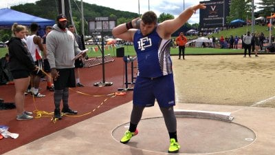 Fort Defiance senior Zach Boyers finished in 2nd place in the boys shot put with a toss of 17.39 meters