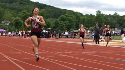 Brianna Tinsley and the STAB 4x100 meter relay team placed 6th with a time of 49.99 seconds