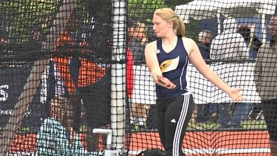 Fluvanna senior Renee Custer finished 4th in the discus with a throw of 121 feet, 10 inches