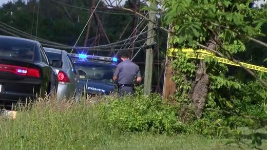 Investigators on the scene of an officer-involved shooting in Louisa County (FILE IMAGE)