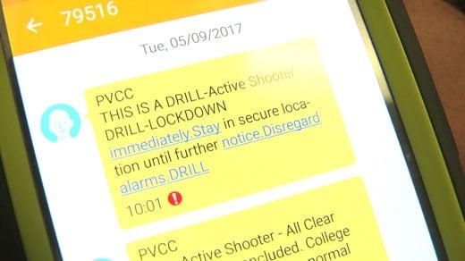 PVCC held an active shooter drill Tuesday