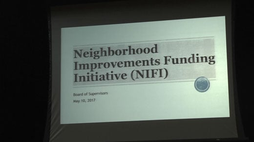 The Albemarle County Board of Supervisors met to discuss the Neighborhood Improvements Funding Initiative Wednesday