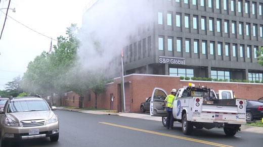 transformer fire near East Market Street