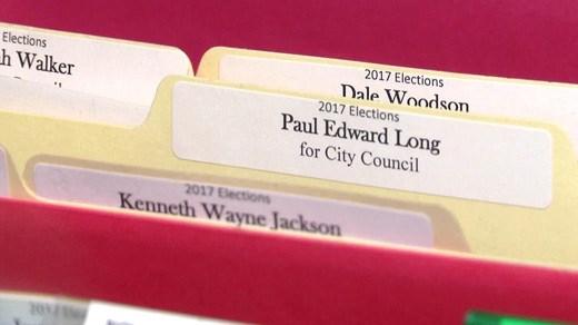Candidate filing information folders