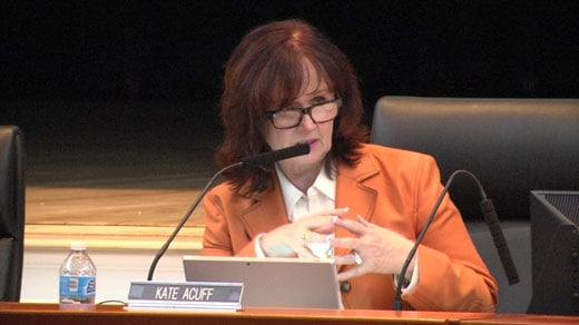 Kate Acuff, school board chair