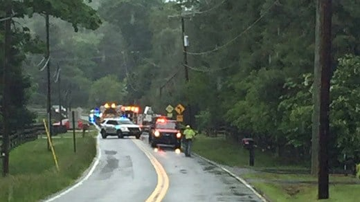 Accident in the area of Garth Road and Free Union Road (Photo courtesy ACPD)
