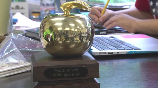 Ellen Patterson's Golden Apple award