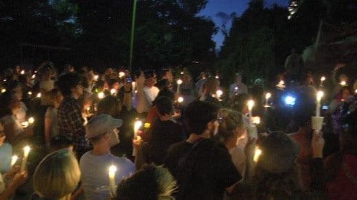 People holding a rally in opposition to supporters of the Lee statue in Charlottesville (FILE IMAGE)