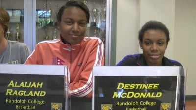 Alaijah Ragland and Destinee McDonald will both play basketball at Randolph College