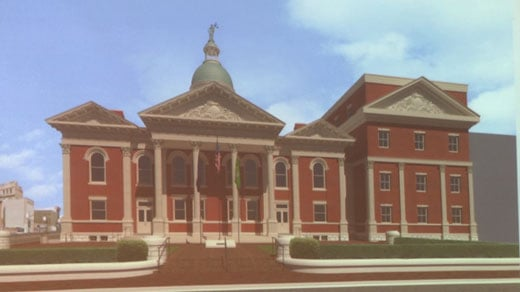 A rendering of the Augusta County Courthouse