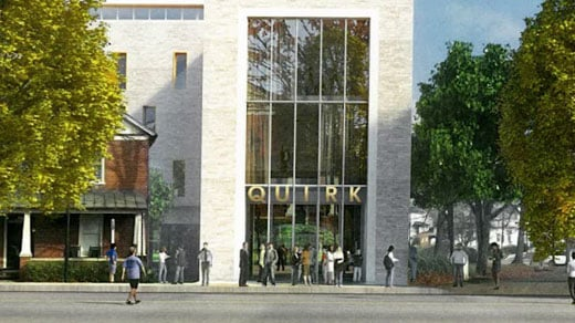 An artist's rendering of the Quirk Hotel