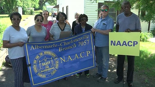 NAACP members at press conference