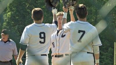 Will Moore celebrates a home run