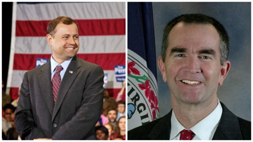 Tom Perriello and Ralph Northam