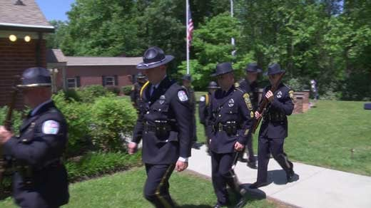 Albemarle County held a memorial ceremony at the Fraternal Order of Police for fallen officers
