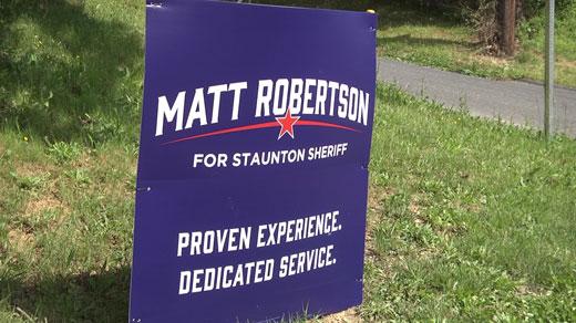 Matt Robertson announced he is running for Staunton sheriff
