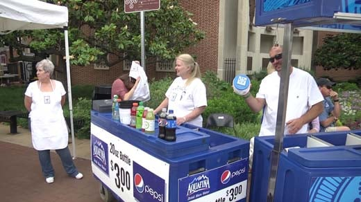 Volunteers with the Ronald McDonald House sold beverages at the Four Voices concert