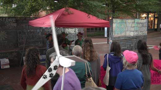 Climate Emergency Rally held Wednesday on Charlottesville's Downtown Mall