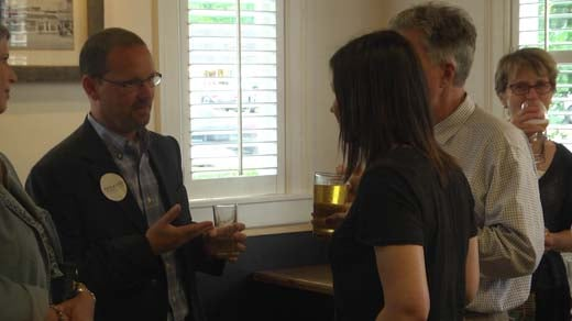 Joe Platania held a meet and greet Wednesday at Fry Spring Station