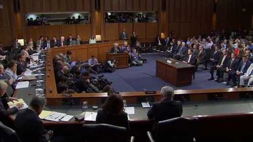 Former FBI Director James Comey testified in front of the Senate Intelligence Committee