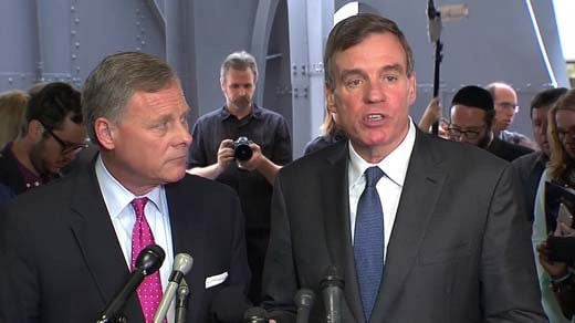 U.S. Senators Richard Burr (left) and Mark Warner (right)