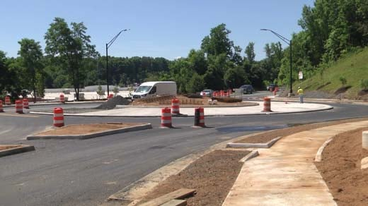 Roundabout at Hilton Heights Road and Berkmar Drive