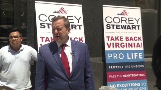 Corey Stewart, City Hall Richmond