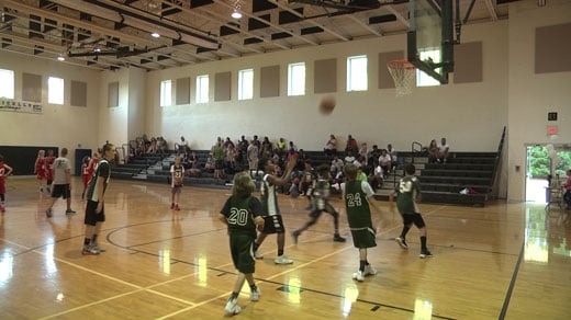 """at """"Hoops For Craig"""" tournament"""