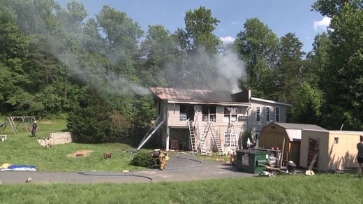 house fire on Spotswood Trail