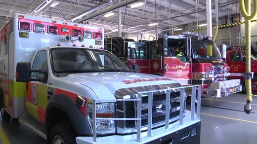CARS ambulance housed at the Charlottesville Fire Department's station on Fontaine Avenue