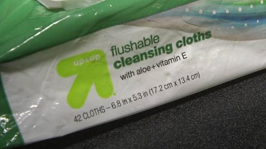 Flushable cleansing cloths
