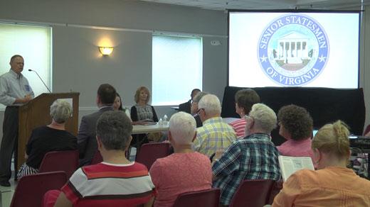 Senior Statesmen of Virginia meeting at the Senior Center in Albemarle County