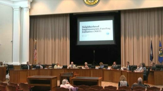 The Albemarle County Board of Supervisors met to discuss the Neighborhood Improvement Funding Initiative