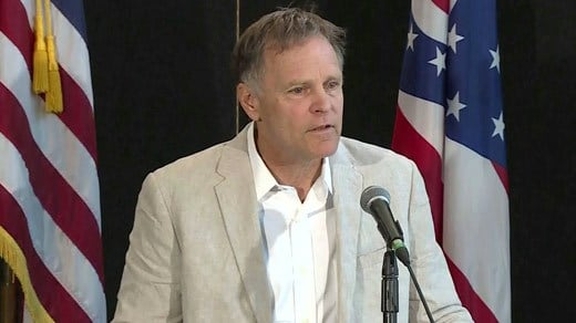 Fred Warmbier holding a news conference