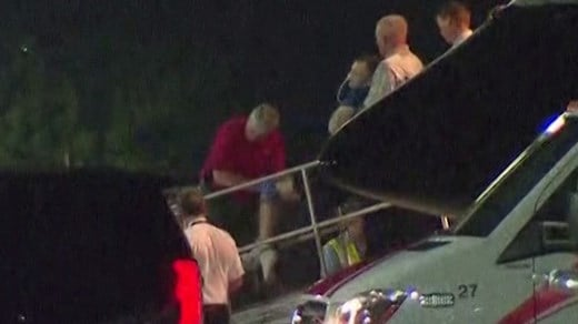 Otto Warmbier being transported off a medevac plane (FILE IMAGE)
