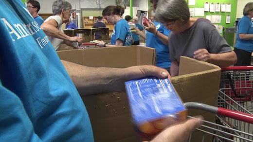 Ameriprise Financial employees volunteering at the Blue Ridge Area Food Bank