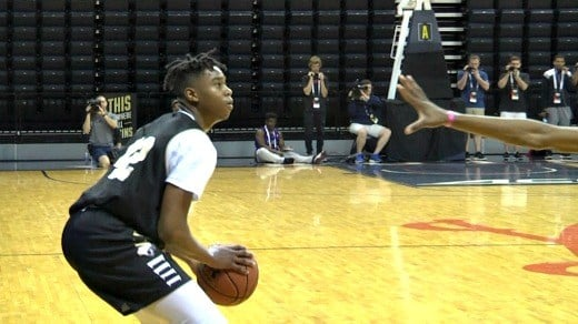 Reeves Jr. was the most prolific three-pointer shooter through the first three days of the NBPA Top 100 Camp