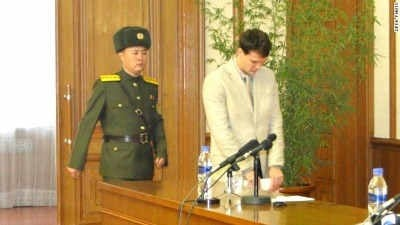 (FILE IMAGE) Otto Warmbier in North Korea