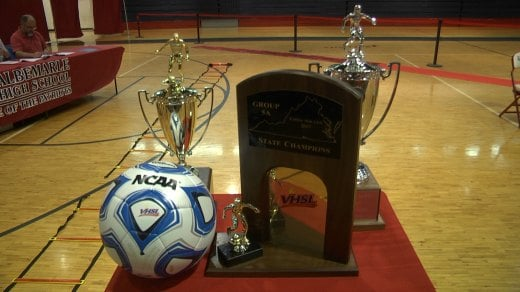 The Albemarle girls soccer team won its firs-ever state championship and finished the year a perfect 23-0