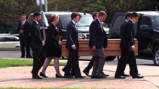 Mourners remember USA  student held prisoner by North Korea