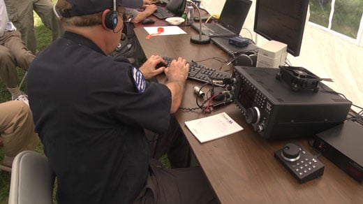Amateur radio operators gather for preparedness drill