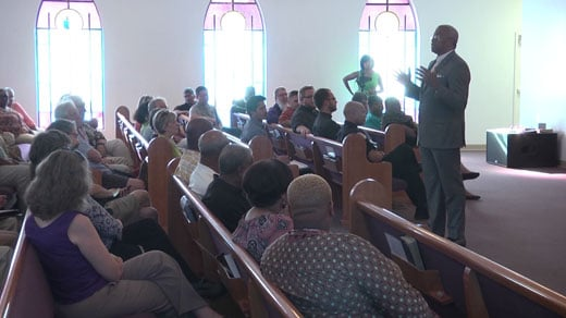 at Mount Zion First African Baptist Church in Charlottesville