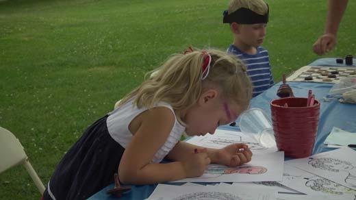 Children at James Monroe's Highland