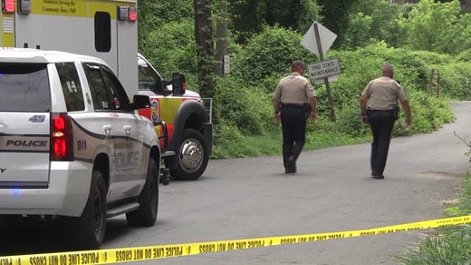 Authorities on the scene of a homicide investigation in Albemarle County (FILE IMAGE)