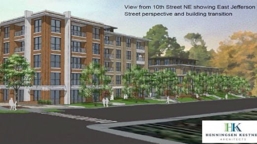 Artist rendering for the East Jefferson Place Project