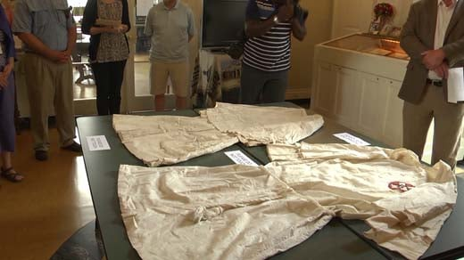 KKK robes on display at the Albemarle Charlottesville Historical Society