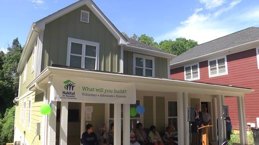 Habitat for Humanity home along Cleveland Avenue in Charlottesville